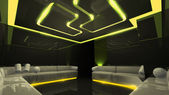 Yellow electronic luxury room — 图库照片