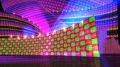 The disco stage set checker b — ストック写真