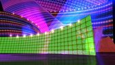 The disco stage set green — Stock Photo