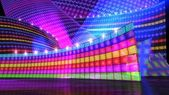 The disco stage set rainbow — Stock Photo