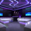 Purple cyber interior room - Stockfoto