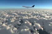 Wide sky airplane — Stock Photo