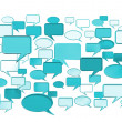 Stock Photo: Many conversation icons blue