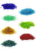 Grânulos pequenos coloridos — Foto Stock
