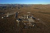 экспериментальная солнечная электростанция — Стоковое фото