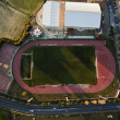 Постер, плакат: Aerial view of football pitch and athletics in Lepe