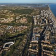 Aerial view of the Islantilla beach — Stock Photo