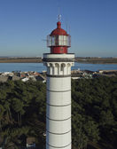 Aerial view of the lighthouse of Vila Real de Santo Antonio — Stock Photo