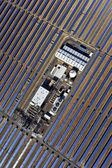 Aerial view of solar parabolic power plant — Stock Photo