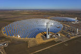 Aerial view of solar thermal power plant — Stockfoto