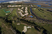 Aerial view of the golf course — Stock Photo