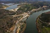 Vue aérienne du fleuve guadiana — Photo