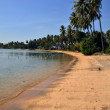 Long lonely beach at Rabbit Island, Cambodia — Stock Photo #10311494