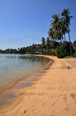 Long lonely beach at Rabbit Island, Cambodia — Stock Photo