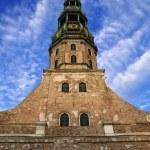Saint Peters Church at Riga Old Town - Latvia — Stock Photo