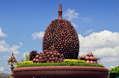 Durian roundabout at Kampot - Cambodia — Stock Photo