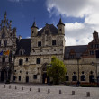 Town square and city hall of Mechelen — Stock Photo