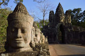 Bridge at South Gate of Angkor Tom - Cambodia — Stock Photo