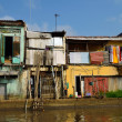 Poor colorful house at Mekong Delta — Stock Photo