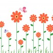 Flower Wall Decal — Stock Vector