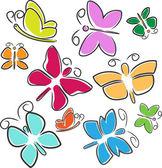Resumen de mariposas — Vector de stock