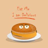 Eat Me — Stock Vector