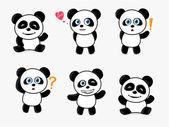 Cute Panda — Stock Vector