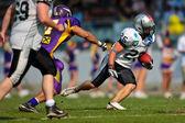 Vikings vs. Raiders — Stock Photo