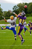 Vikings vs. Giants — Stock Photo