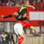 Austria vs. Belgium — Stock Photo