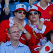 Football WC 2011: Austria vs. Japan — Stock Photo