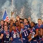 Football WC 2011: USA vs. Canada — Stock Photo #9071367