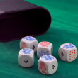 Poker dice - Stockfoto
