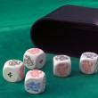 Poker dice - Stock Photo