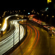 Royalty-Free Stock Photo: Highway traffic at night