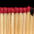 Match sticks in a row — Stock Photo #9074188