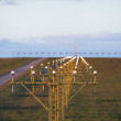 Runway lights — Stock Photo
