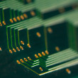 Electronics - back of a circuit board - Foto de Stock  