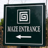 Maze Entrance — Stock Photo