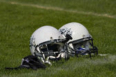 Football helmets — Foto Stock