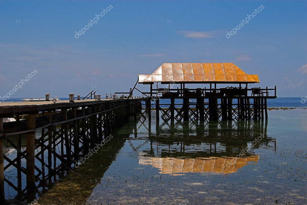 Jetty on the Togians Islands (Indonesia)  Stock Photo #9073545