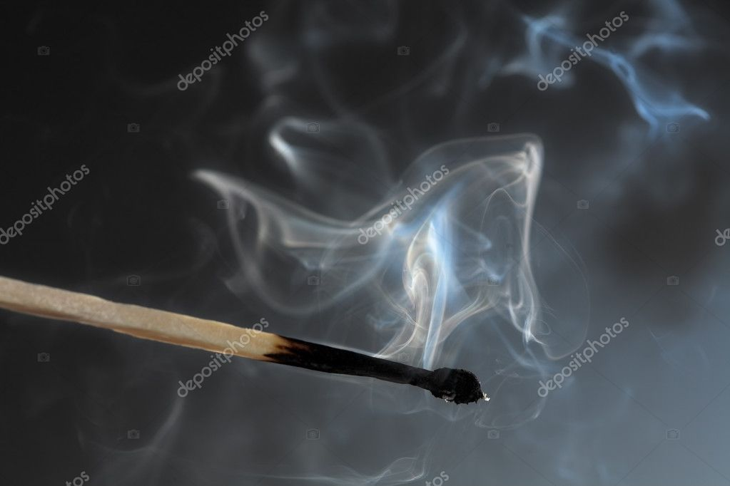 Photo of smoldering match that has just been extinguished. — Stock Photo #9074203