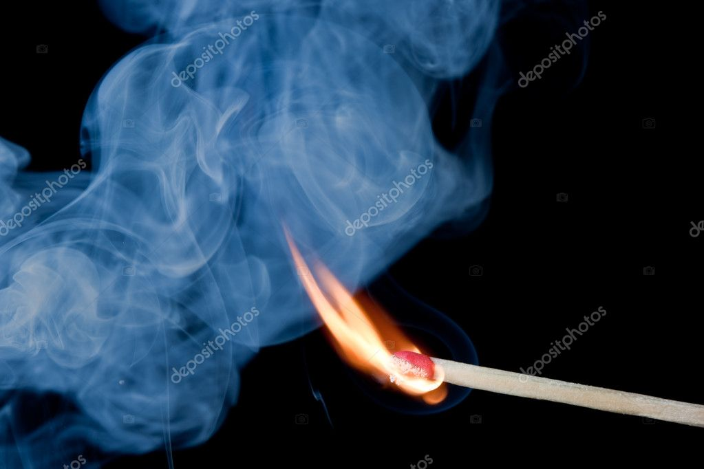 Burning match that has just been ignited. — Stock Photo #9075017