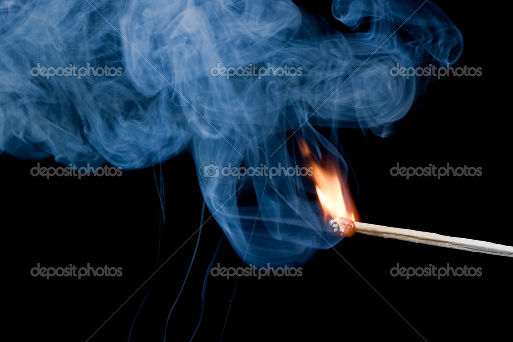 Burning match that has just been ignited. — Stock Photo #9075019