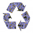 Recycling symbol,isolated — Stock Photo