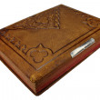 Foto Stock: Old leather book cover