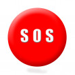 S.o.s button,isolated — Stock Photo