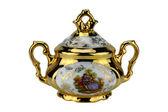 Porcelain sugar bowl — Stock Photo
