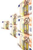 Euro di soldi — Foto Stock