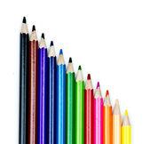 Farbstiften, isoliert — Stockfoto